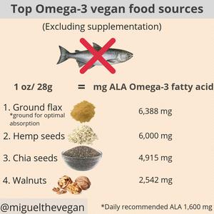 vegan, omega 3, veganfood, nutrition, health, vegan health