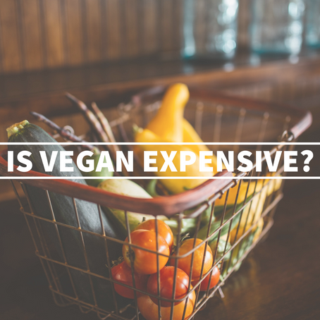 The price of being vegan + Free grocery list