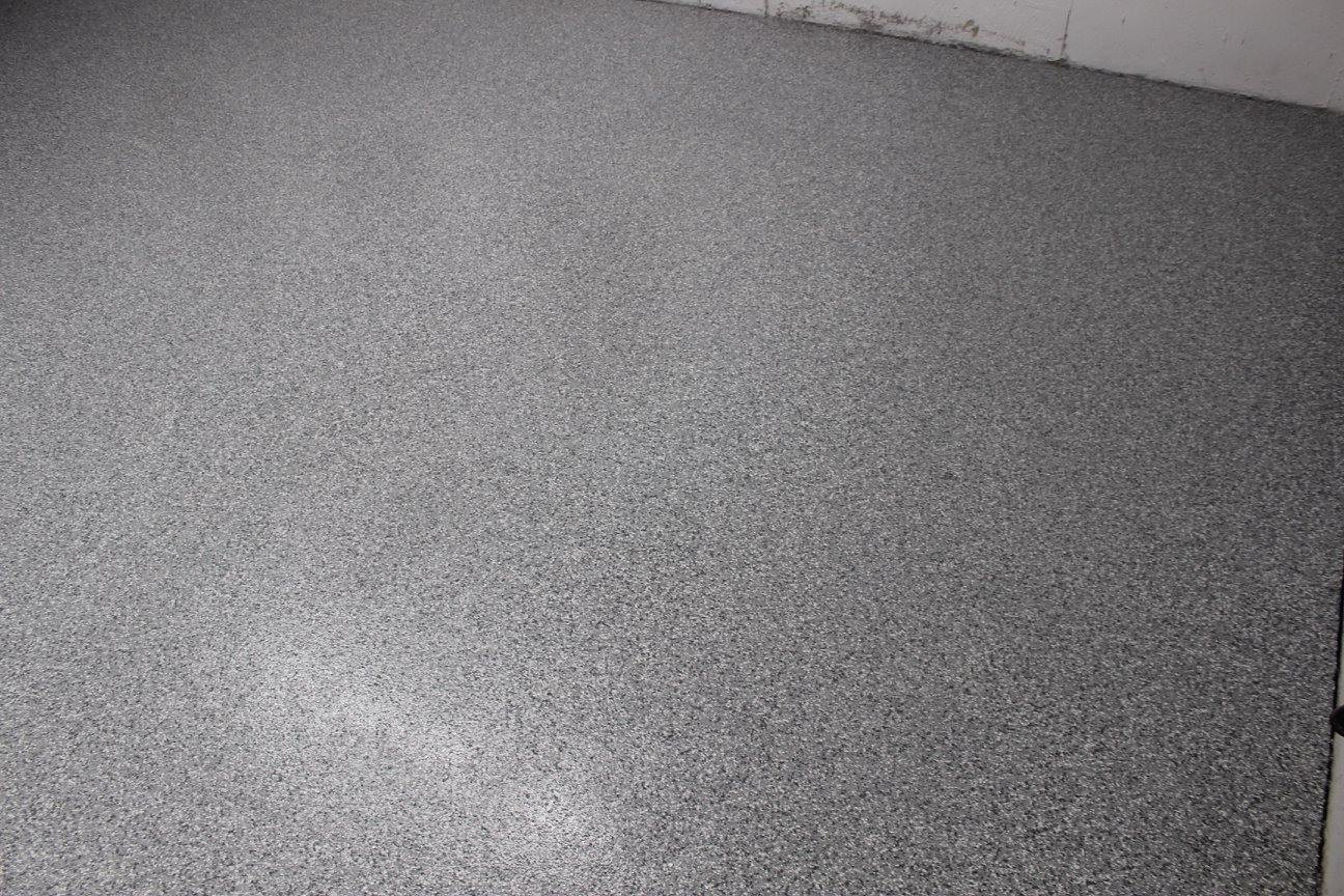 Concrete Floor After Repair and Floor Coating