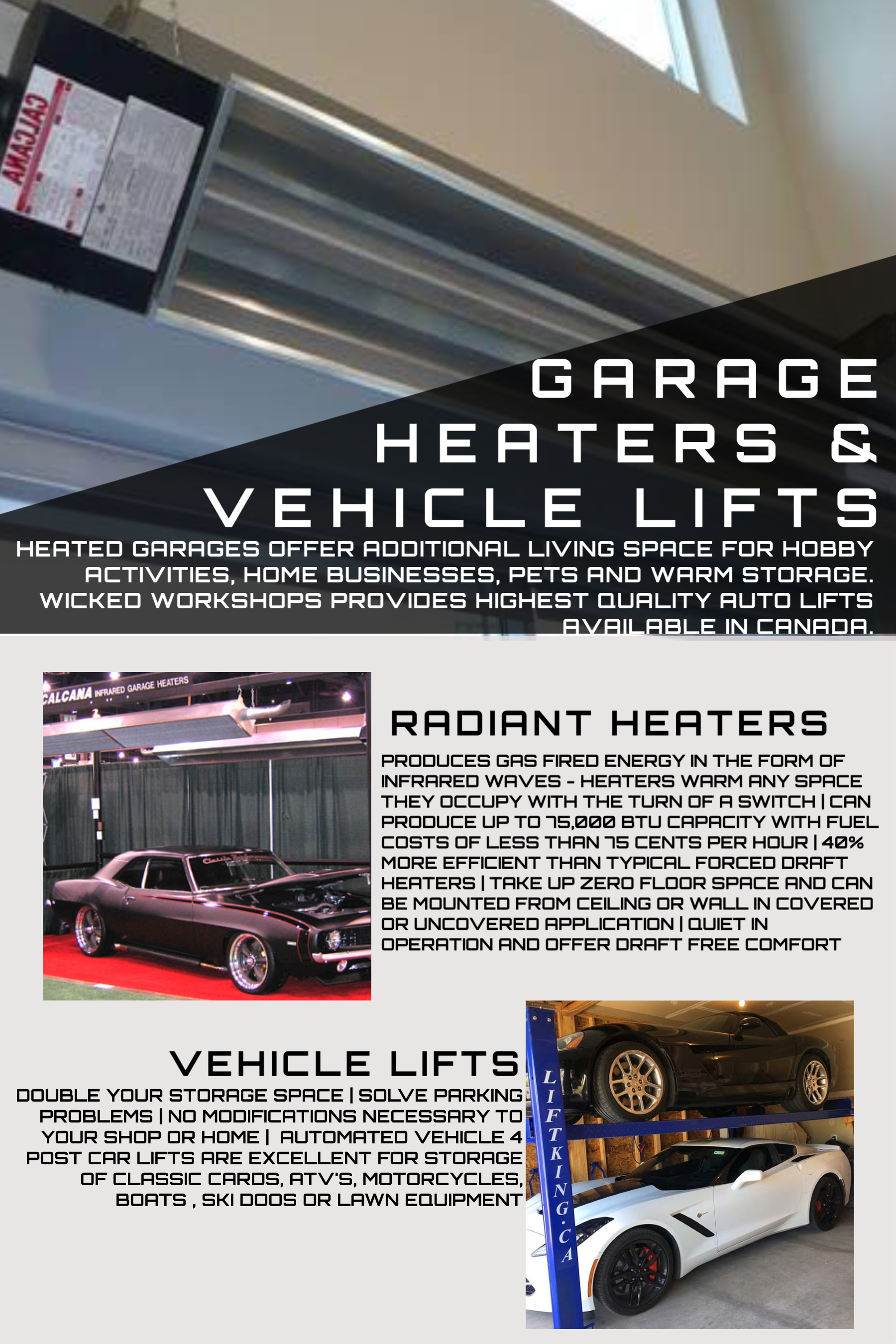 Garage Heaters & Lifts