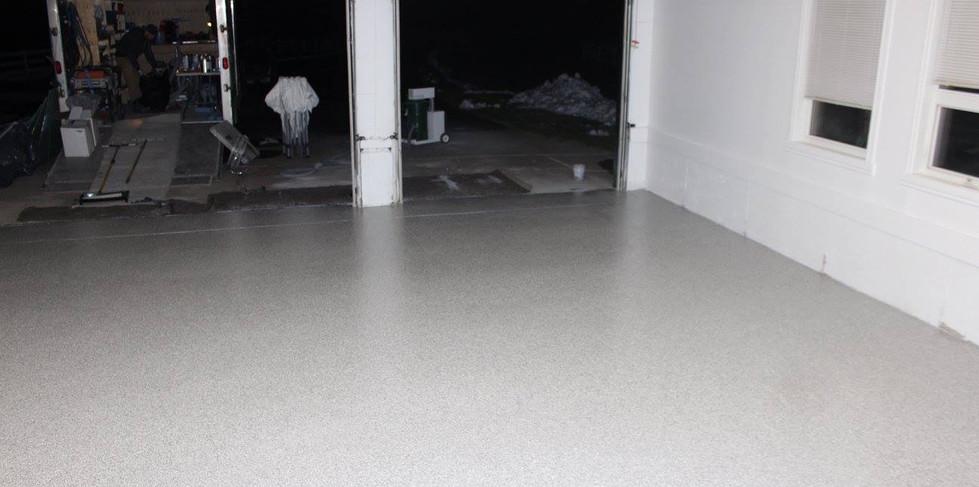 Concrete Floor After Repair and Floor Coating