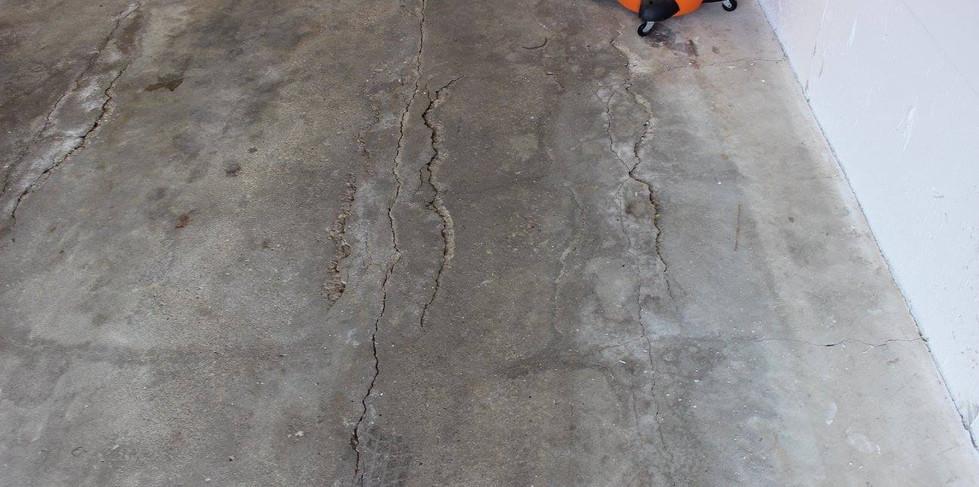 Concrete Floor Before Repair