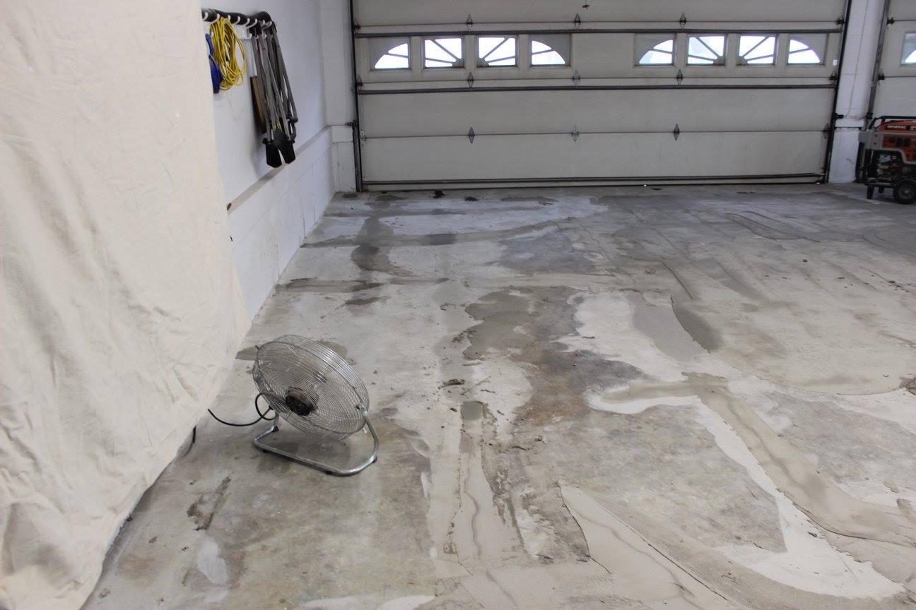 Concrete Floor During Repair