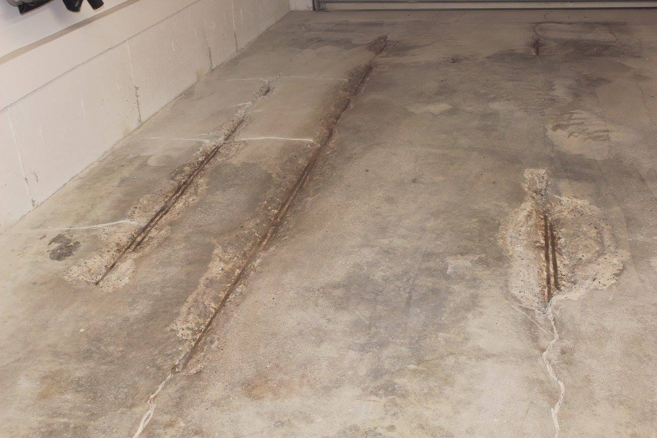 Concrete Floor Before Repair