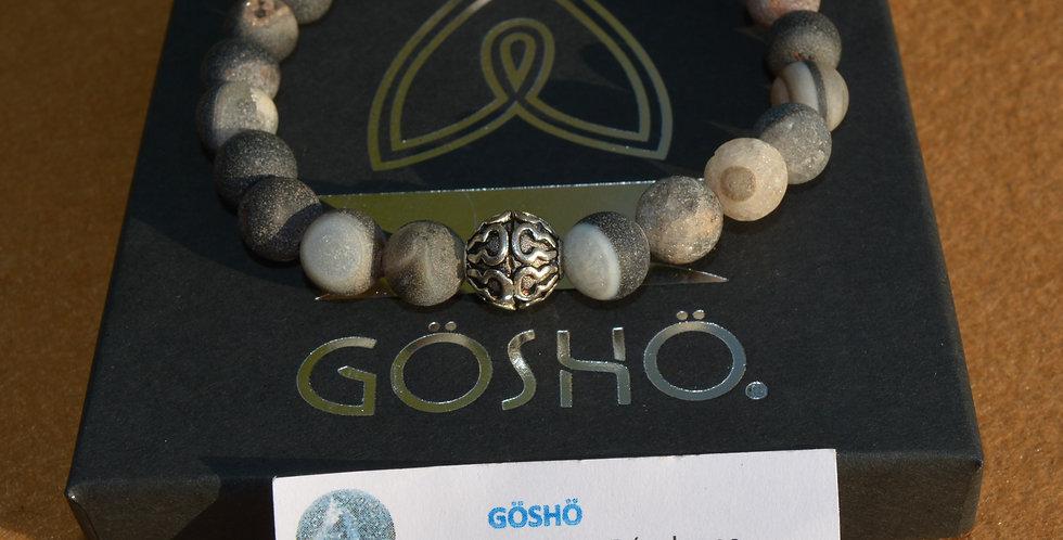 Bracelet GOSHO Agate druzy mat