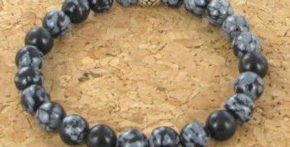 Bracelet GOSHO Obsidienne Mouchetée