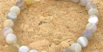 Bracelet GÖSHÖ Agate Blanche mat