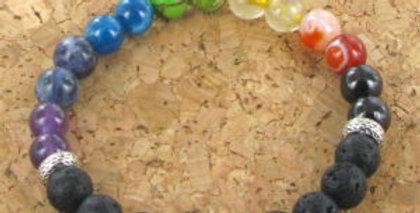 Bracelet GOSHO 7 chakras et Pierres de Lave