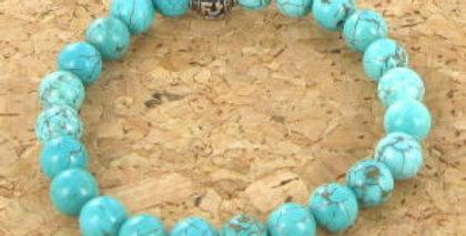 Bracelet GOSHO Howlite Turquoise