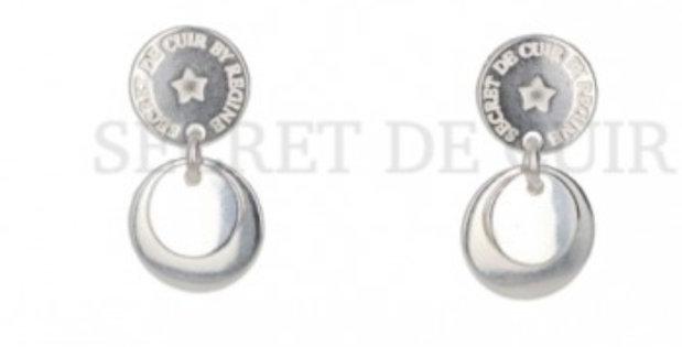 Boucles d'oreilles argent médailles Secret De Cuir