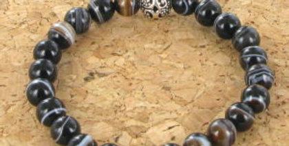 Bracelet GÖSHÖ Agate noire à bande