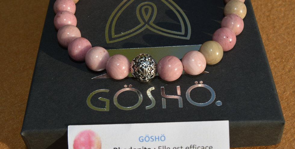 Bracelet GOSHO  Rhodonite