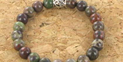 Bracelet GOSHO Agate de Foret Tropicale