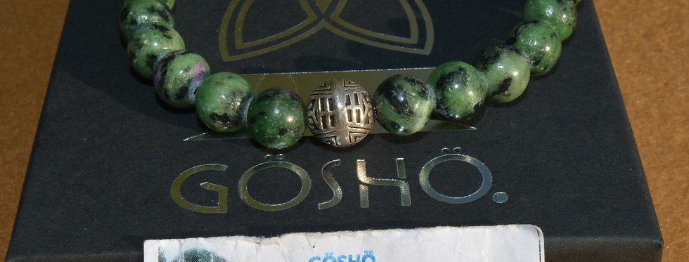 Bracelet GOSHO Rubis Zoïzite