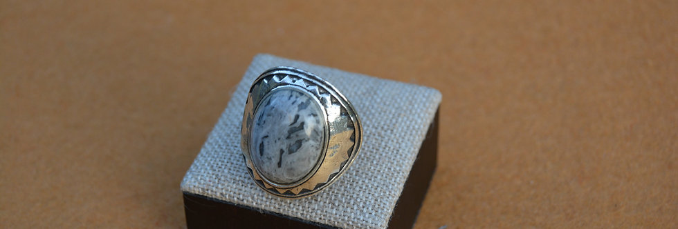 Bague réglable BLOW Labradorite claire