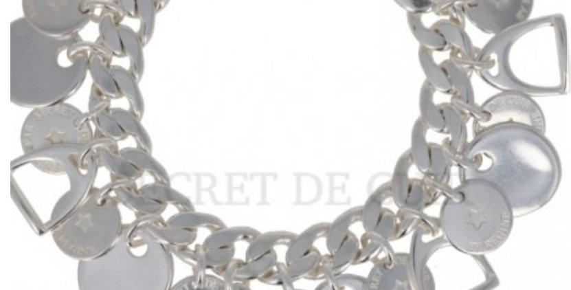 Bracelet gourmette argent multi pampilles Secret De Cuir
