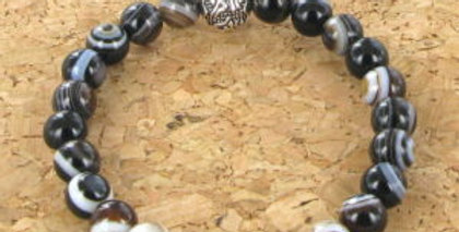 Bracelet GÖSHÖ Oeil Agate Noir