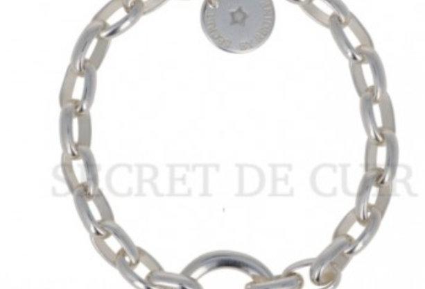 Bracelet ovale argent Secret De Cuir