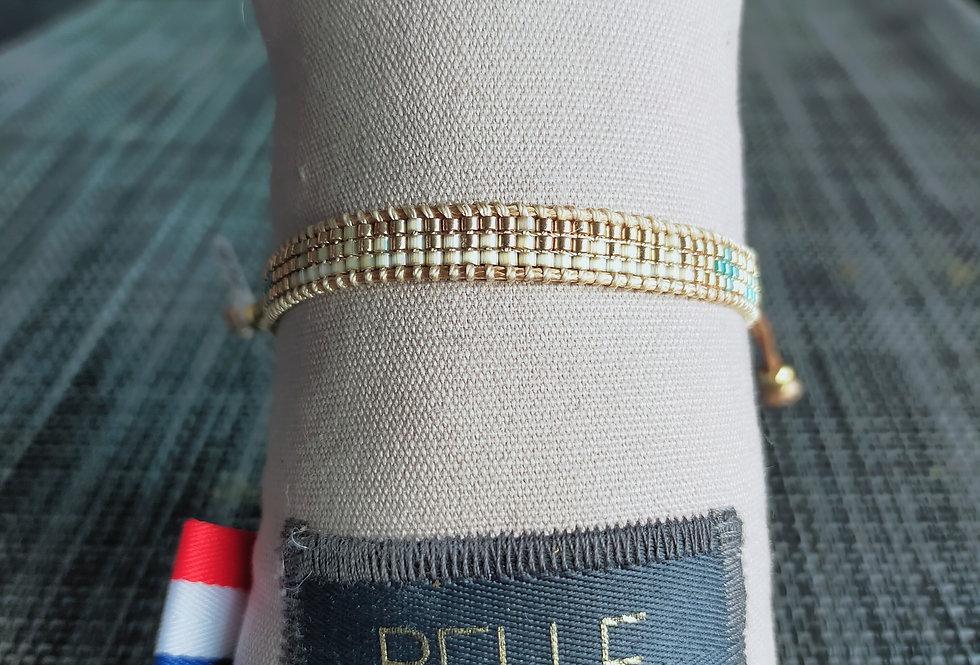 """Bracelet réglable 3 rangs """"Belle Mais Pas Que"""""""