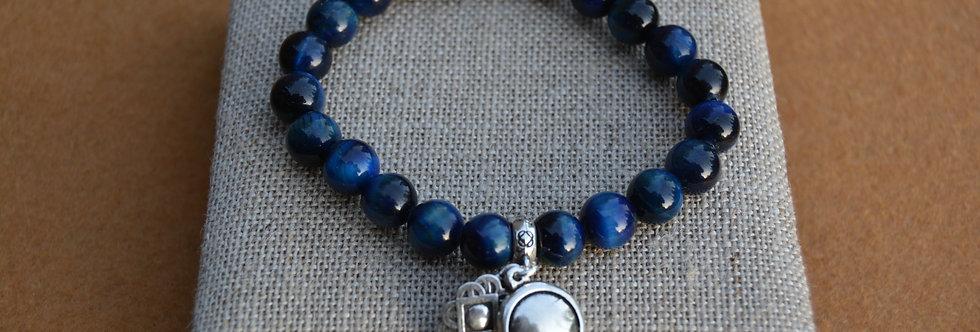 Bracelet BLOW Oeil de Tigre Bleu