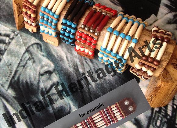 Bracelet Amérindien, 6 rangs, SUR COMMANDE à personnaliser - Ref: B 06