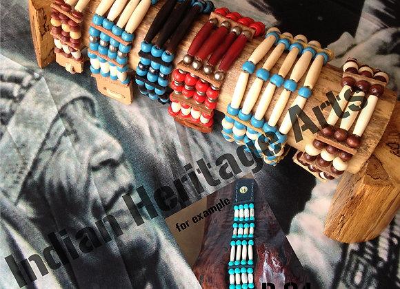 Bracelet Amérindien, 4 rangs, SUR COMMANDE à personnaliser - ref: B 04