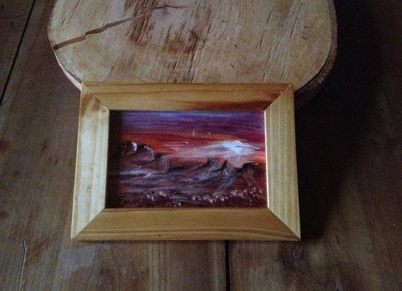 Sunset Arizona - peinture originale - territoire Navajo