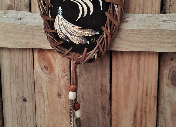 Bouclier de protection, mandella amérindien Aigle et plumes - ref: M 201204