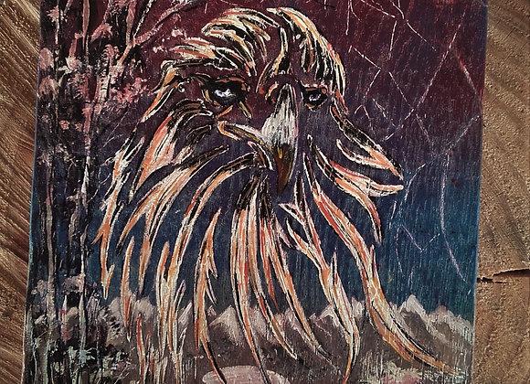 """Aigle - peinture sur bois """" Spirit of the eagle"""""""