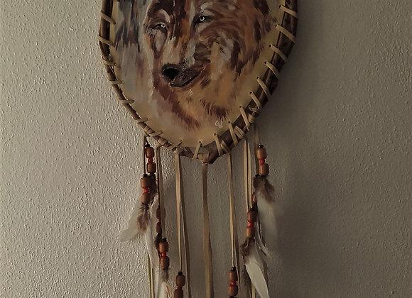 Bouclier de protection, mandella amérindien - loup - Free Wolf - ref: M 201203