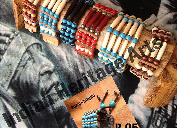Bracelet Amérindien, 5 rangs, SUR COMMANDE à personnaliser - ref: B 05