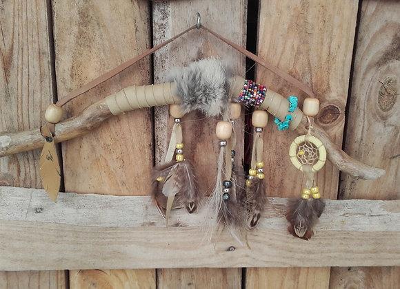 Bâton de parole amérindien, bois naturel - ref: BP 25