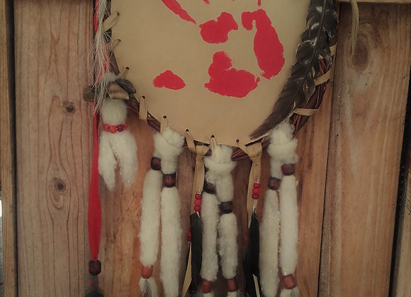 Bouclier de protection, mandella main rouge - Ref: M 210701