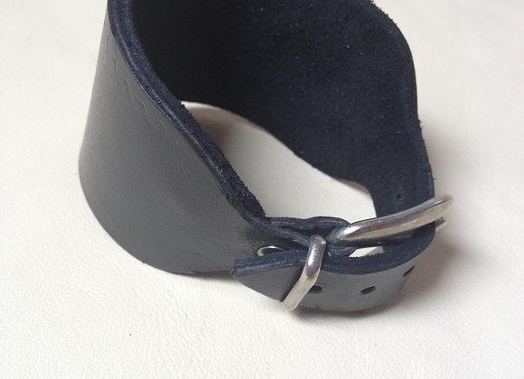 Bracelet cuir noir doublé : Ref : BL 8