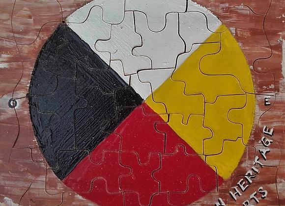 Puzzle roue médecine - Indian Heritage Arts - ref: puzzle 1