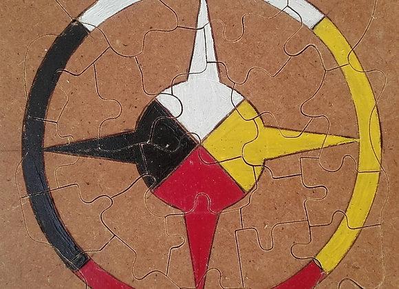Puzzle roue médecine