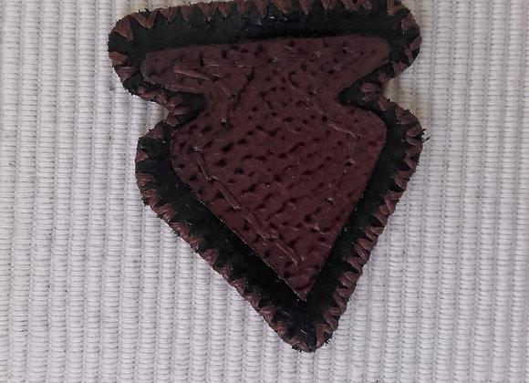 Patch en cuir , motif pointe de flèche - ref: LP 6