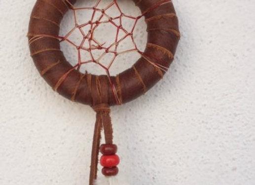 Attrape rêves cuir marron - ref: DC 140202