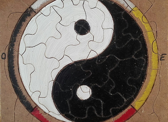 Puzzle Yin Yang et roue 4 directions - 4 couleurs - ref: puzzle 5