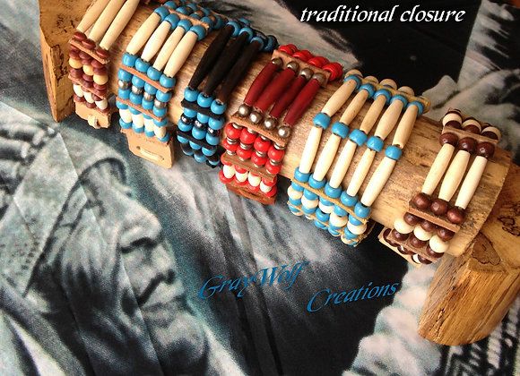 Bracelet Amérindien, 7 rangs, SUR COMMANDE à personnaliser - Ref: B 07
