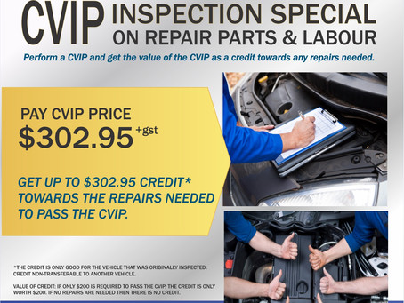 Commercial Vehicle Inspection (CVIP) May Special
