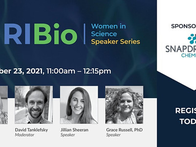 Snapdragon's Jillian Sheeran and Grace Russell, Ph.D. to present at RI Bio's Women in Science series