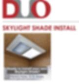 DUO Skylight Shade install image for web