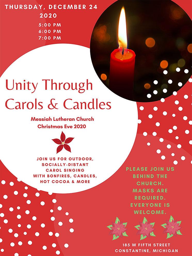 Unity through carols & candles 2020 for