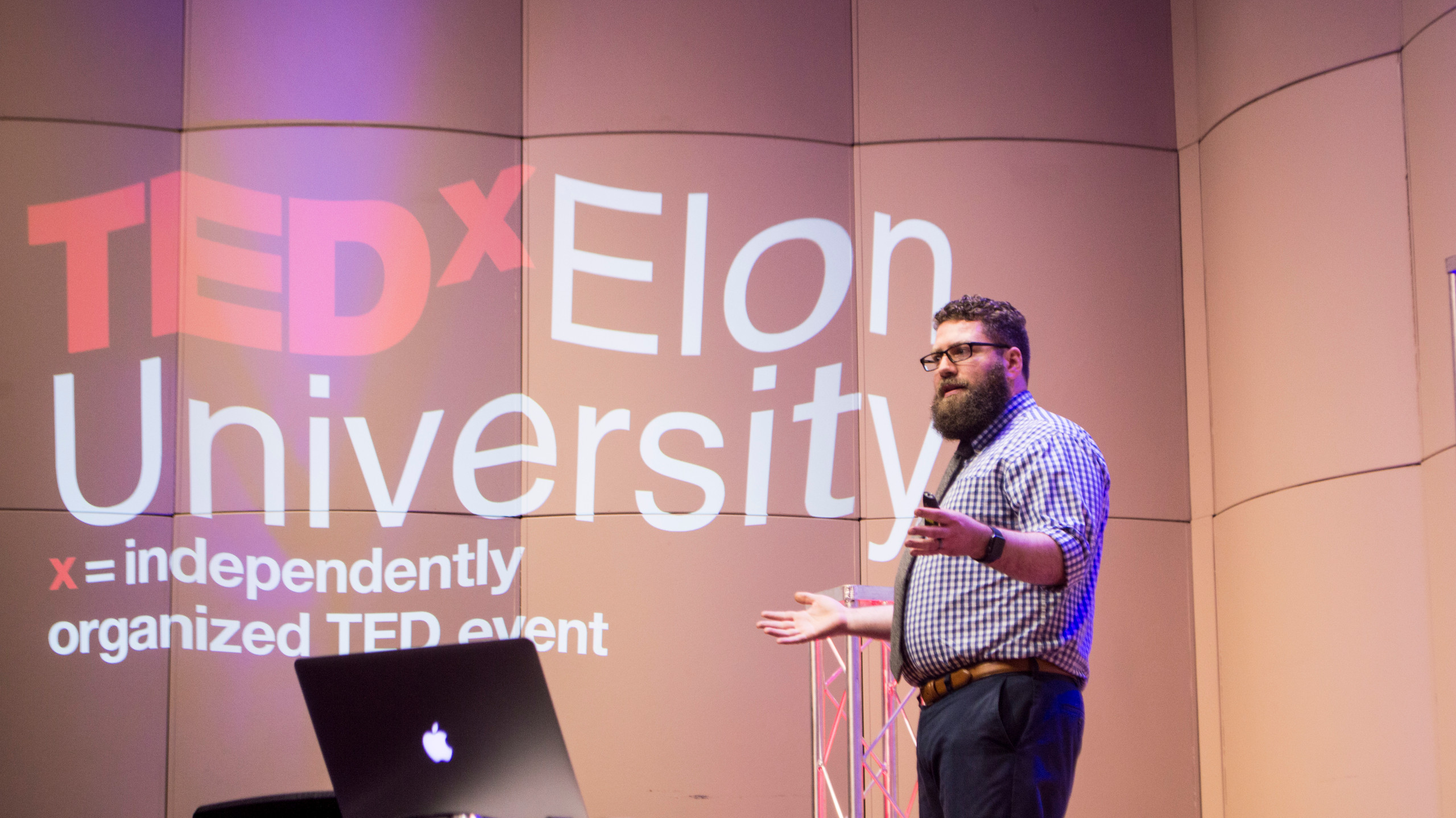 Michael Vaughn, who runs the Elon University Maker Hub, talked about failure as a key to learning.