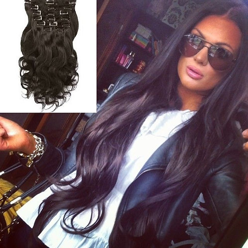 Pure Virgin Hair Clip-in Extensions and Weave