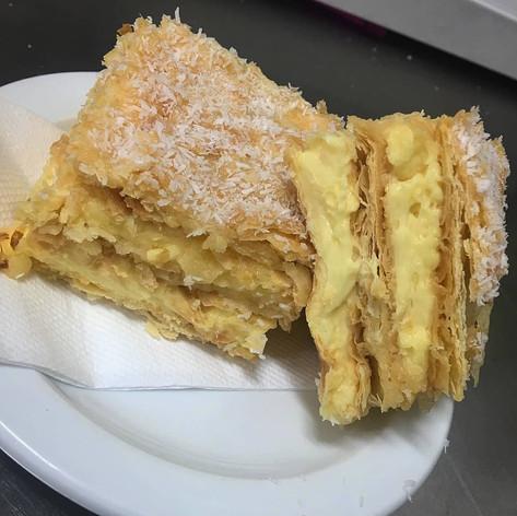 House-made continental vanilla slice 2018