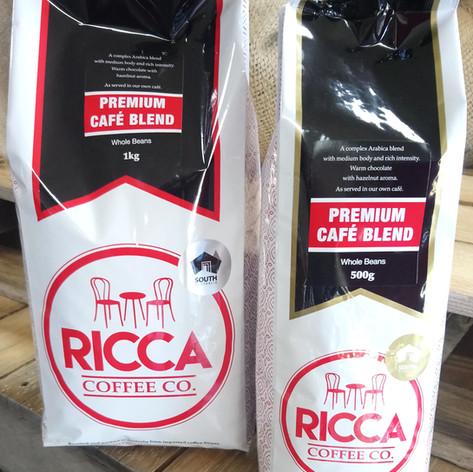 Ricca Cafe Blend roasted coffee