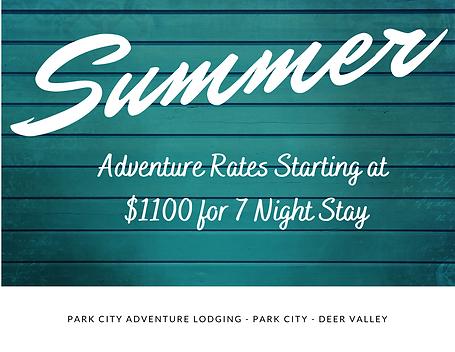 Park City Lodging Summer