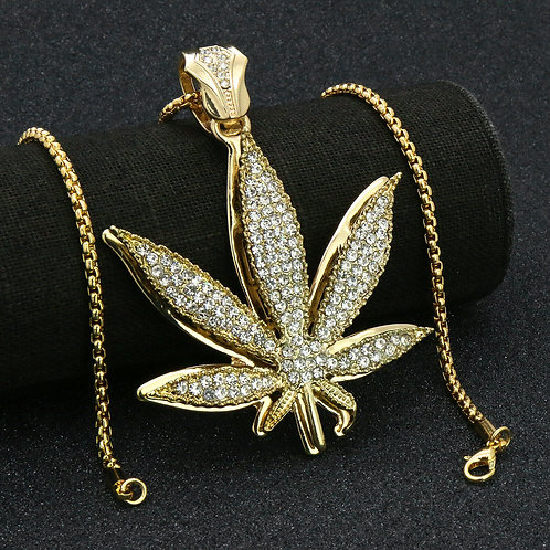 "Gold Plated ""MaryJane"" Leaf"
